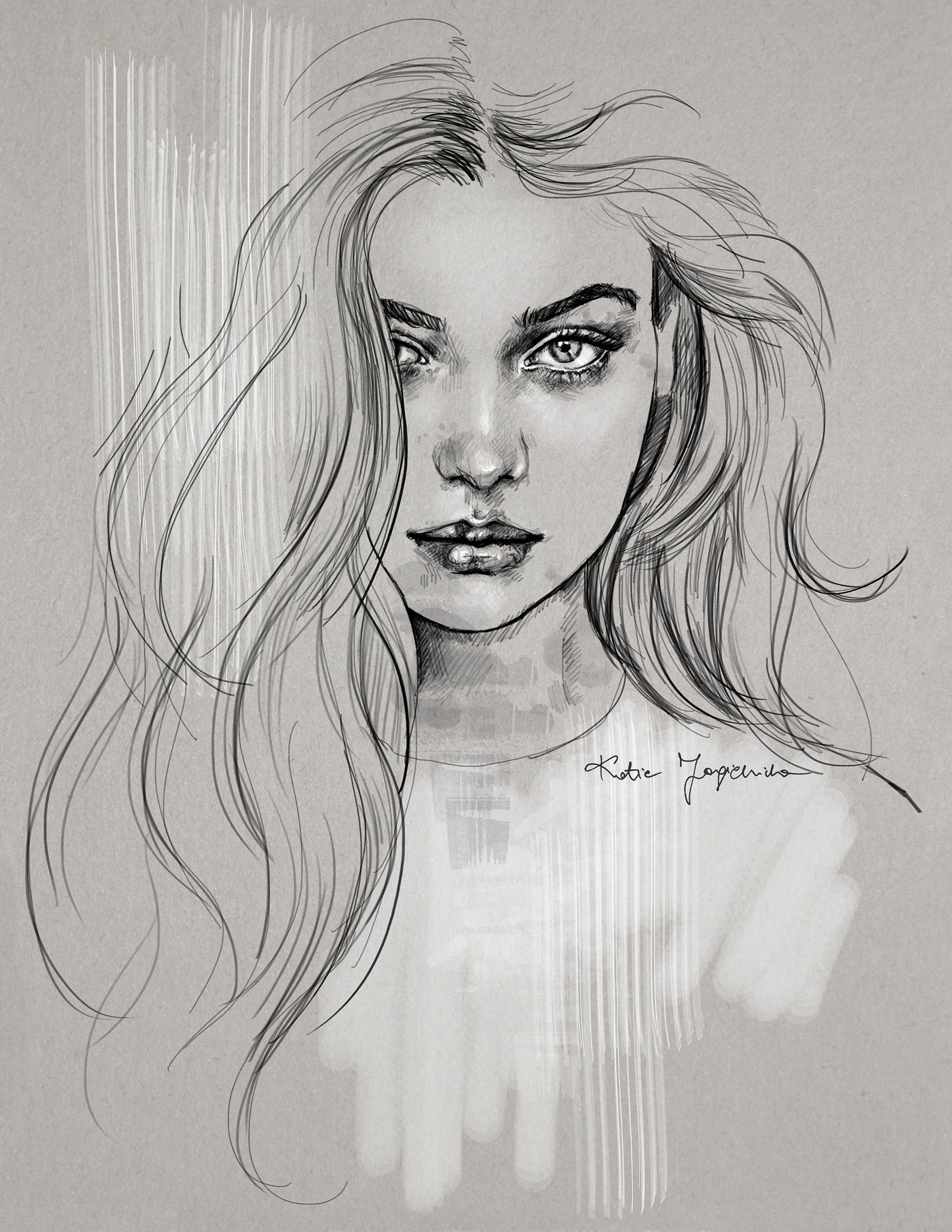 The Most Beautiful Drawing Ever An Absolute One Of The Best Girl Sketches I Ve Ever Seen In My Deviantart Drawings Face Drawing Portrait Drawing