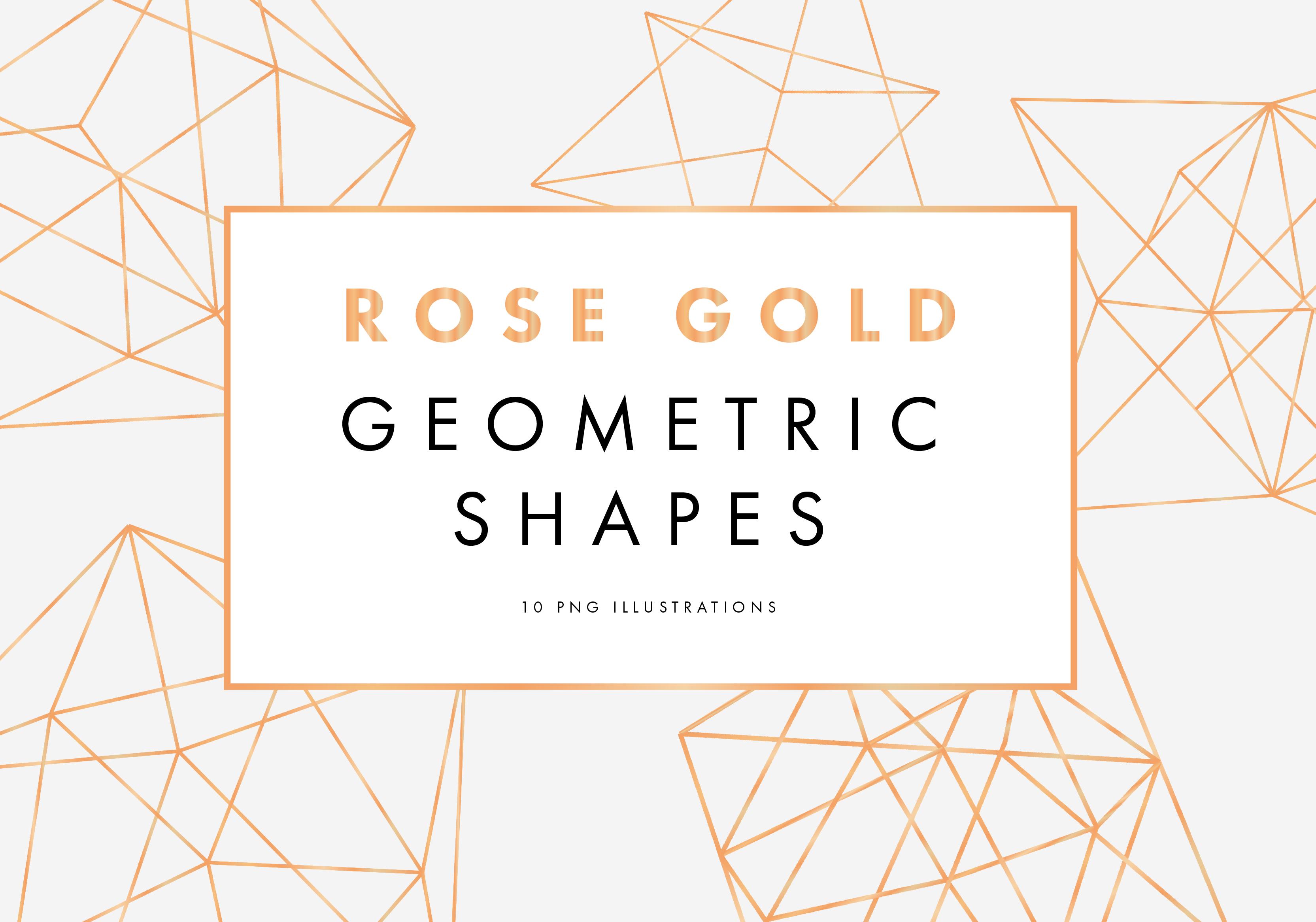 Rose Gold Geometric Pattern