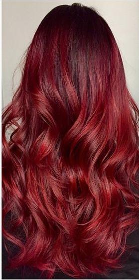 ombr hair rouge sur cheveux noir. Black Bedroom Furniture Sets. Home Design Ideas