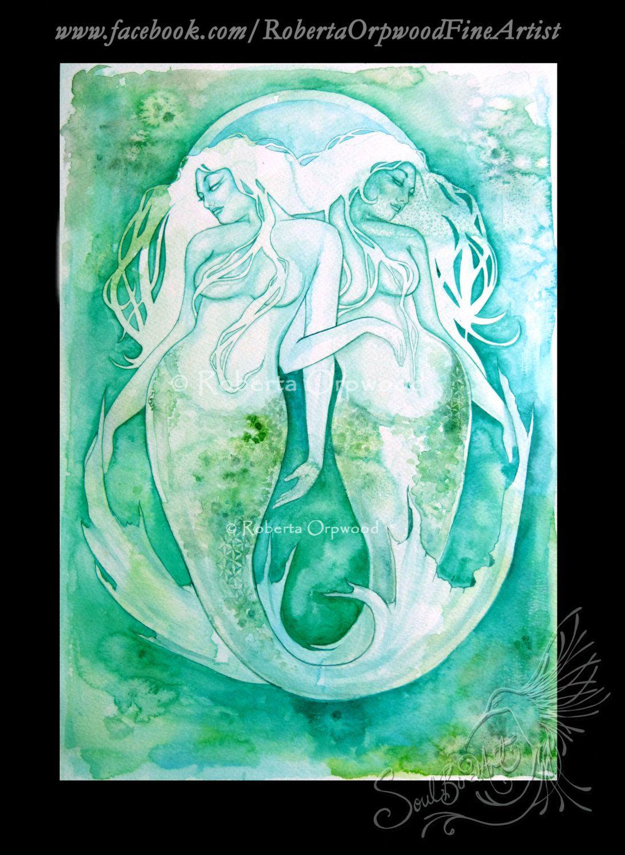 Pisces Zodiac Goddess Art Print In 2019