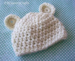 Crochet Bear Hat Pattern — PACountryCrafts