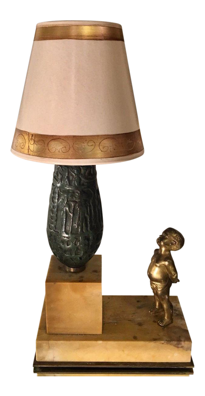 Fabulous very rare antique tiffany studios new york bronze lamp on chairish com