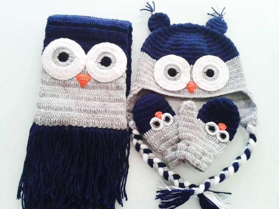 Famoso Crochet Patrón De La Bufanda Del Búho Festooning - Ideas de ...