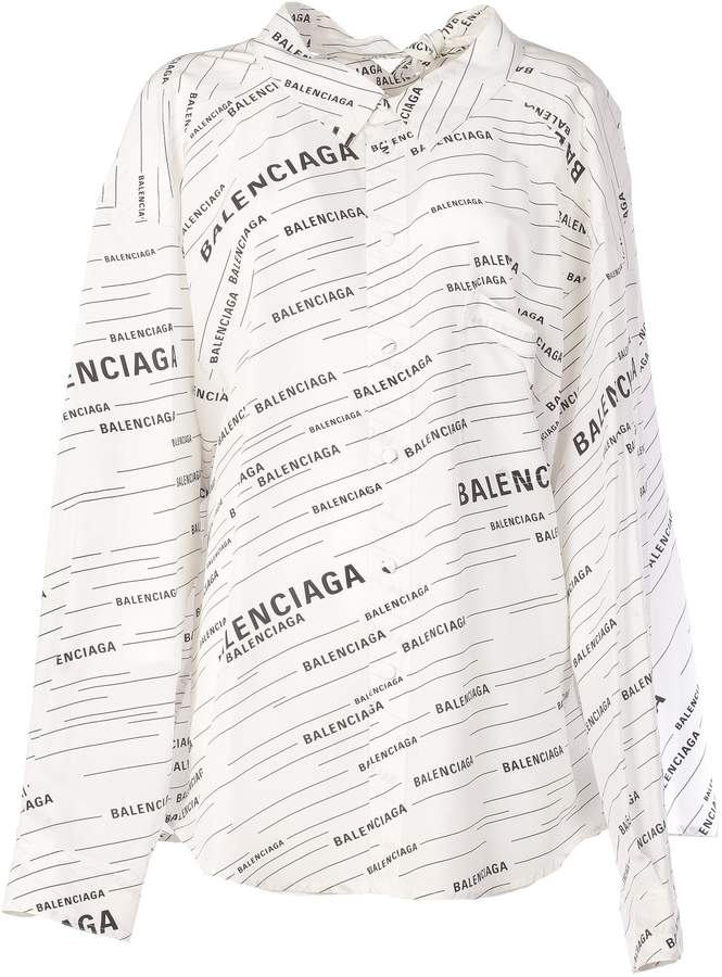 0c77cf432869b6 Balenciaga Oversized Logo Printed Shirt in 2019   Products ...