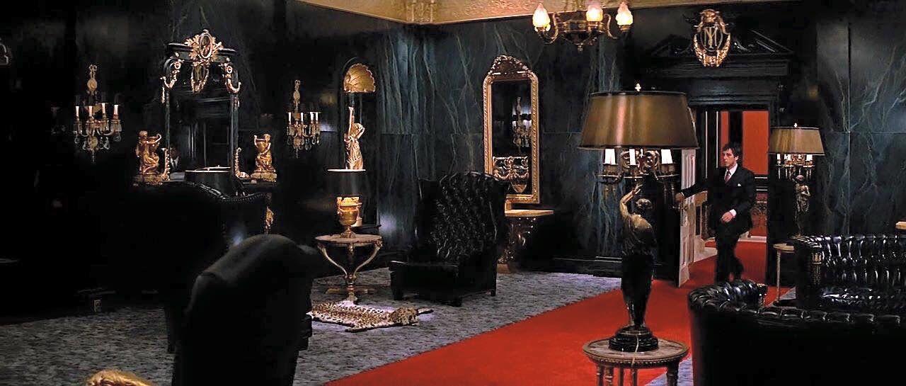 Scarface mansion   Hollywood regency decor, Interior ...