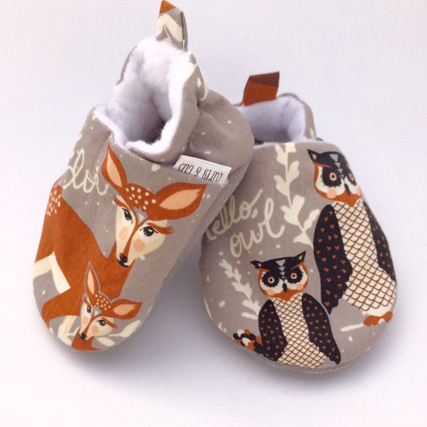 Baby Shoes Hello Bear Deer Soft Soled Baby Shoes Owl Baby Shoes