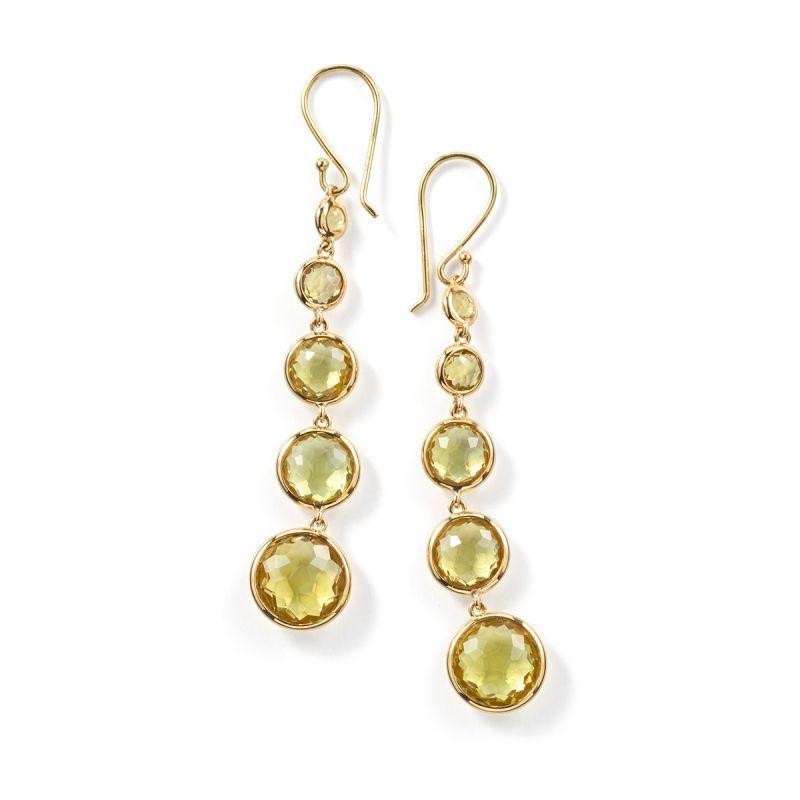 Ippolita 18K Gold Lollipop 4-Stone Drop Earrings in Amethyst with Diamonds u20q2