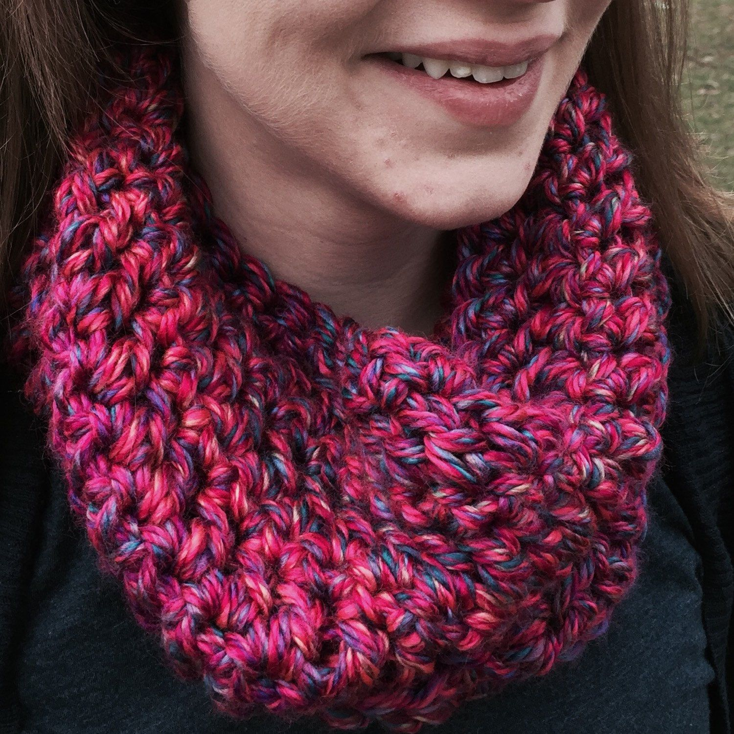 It might not feel like winter yet, but we still have February and March ahead of us. Don't get caught without stylish options to keep you warm. New in the shop are two super cozy cowl scarves. Not your color? Let me know, this yarn comes in many colors.