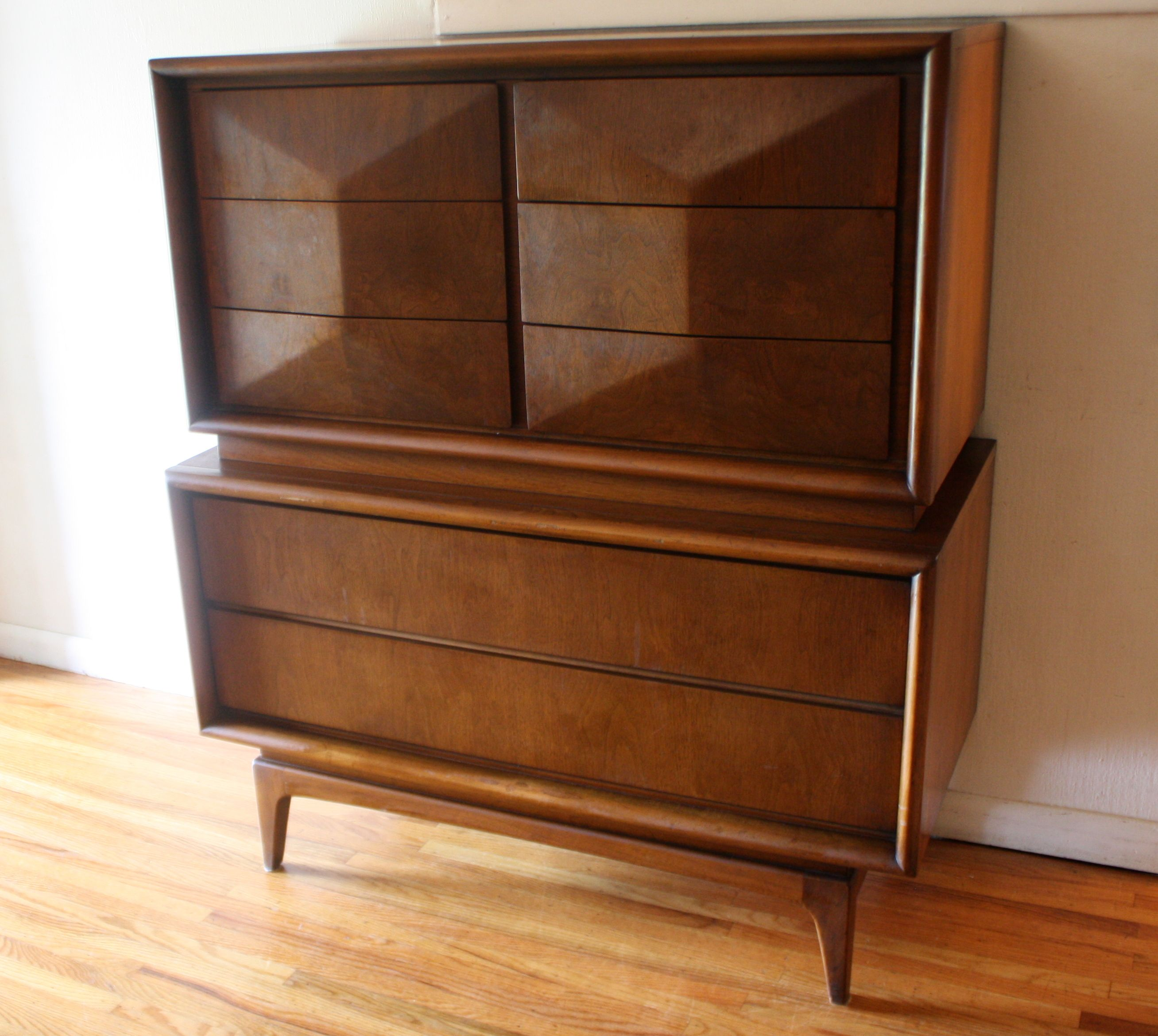 Best Mid Century Modern Armoire Tall Dresser By United With A 400 x 300