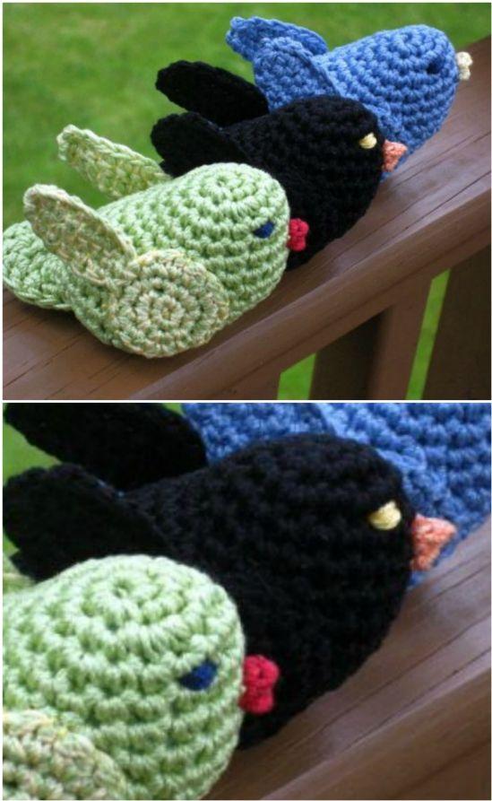 Crochet Bird Patterns Easy DIY Video | Crochet bird ...