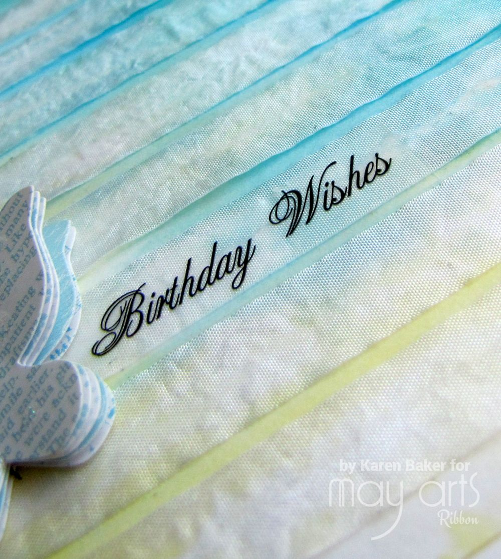 Adding Texture & Color to Cards with Inked Rows of Ribbon