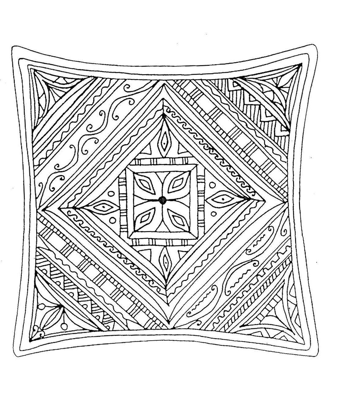 Free coloring page «coloring-for-adults-5». Relatively simple but abstract coloring page, it's up to you to find the right colors to get the best harmony
