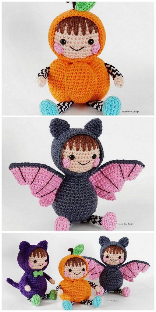 Crochet Halloween Cat Toy Softies Amigurumi Free Patterns | 1024x512