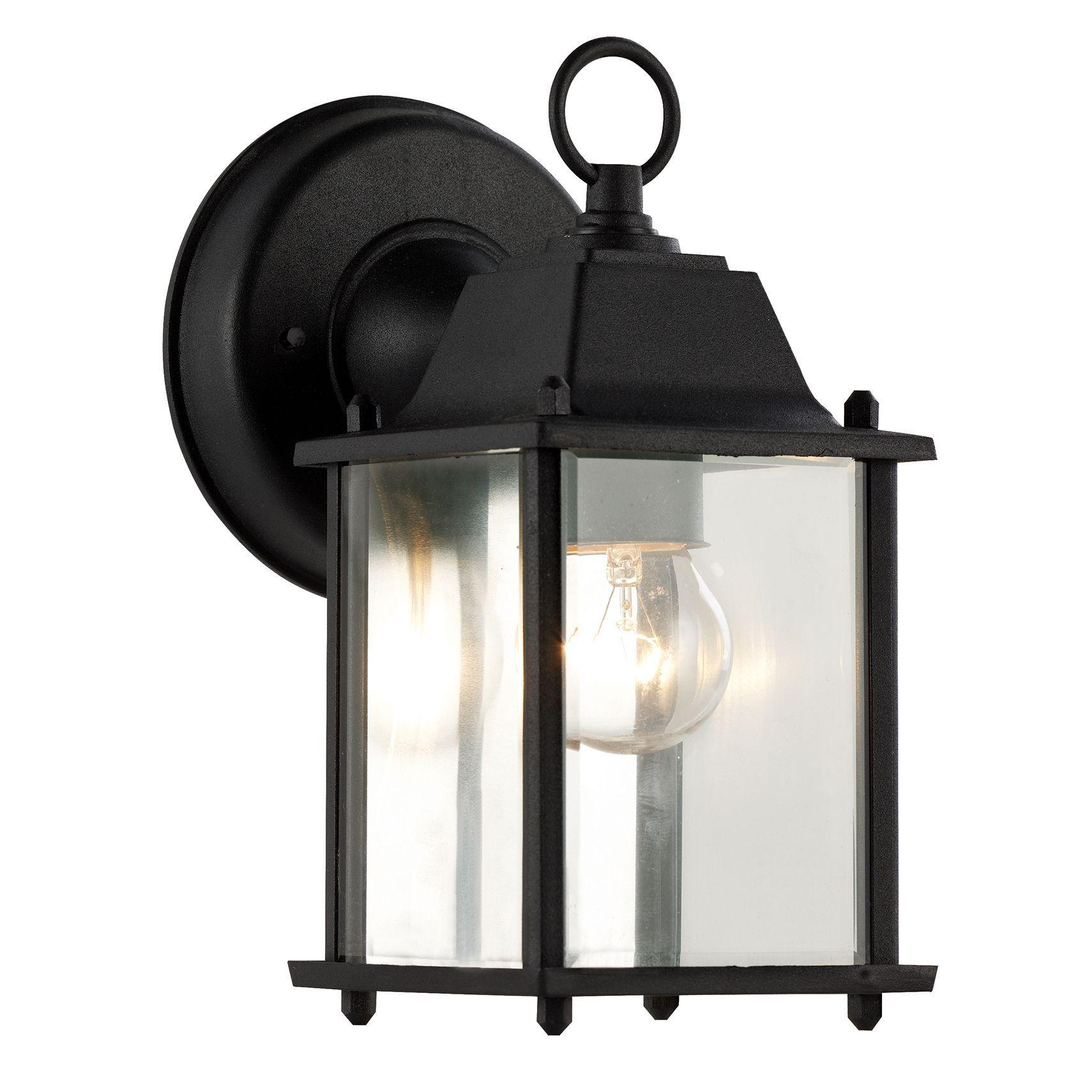 House remodeling  sc 1 st  Pinterest & Bel Air Lighting CB-40455-BK 1 Light Porch Light With Clear Beveled ...