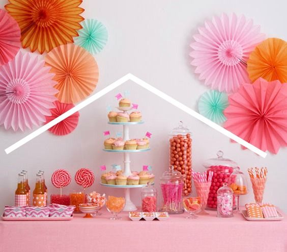 How to set up a dessert table - single triangle example | Party ...