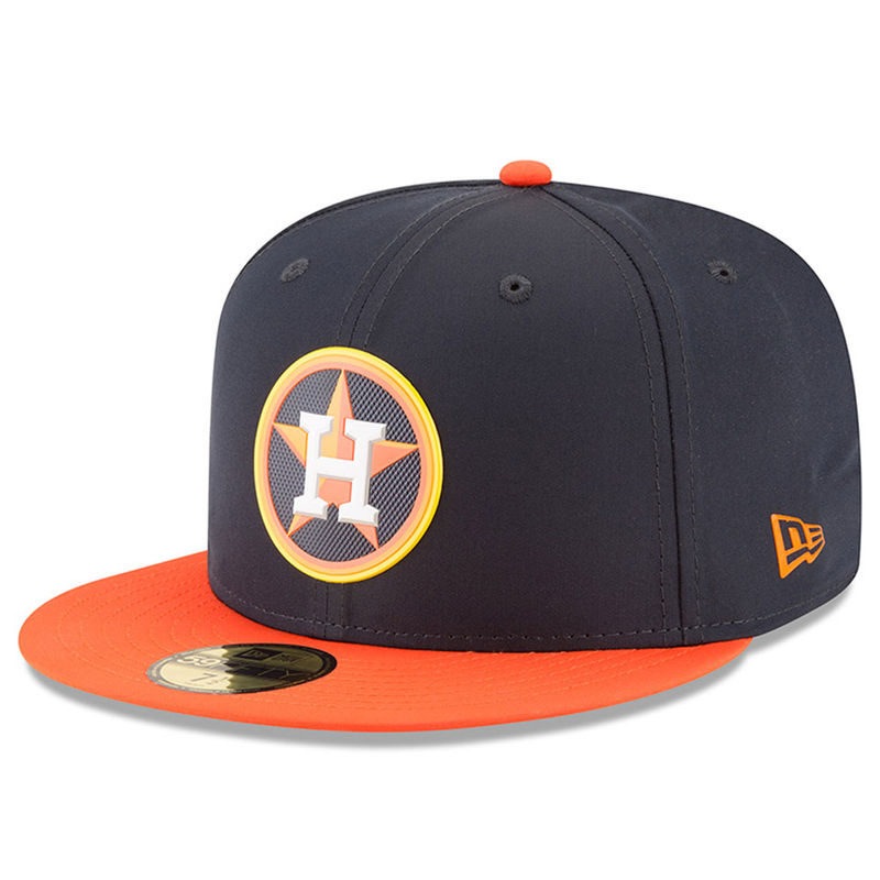 4957b7dec7e Houston Astros New Era 2018 On-Field Prolight Batting Practice 59FIFTY  Fitted Hat – Navy