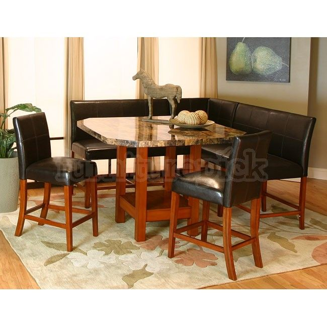 Corner Dining Set  Mayfair Counter Height Corner Dining Nook Set Custom Corner Dining Room Furniture Review