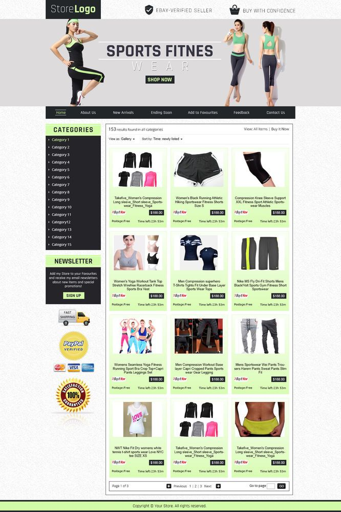 Sportsfitness  #gym theme #eBaystore #templates for #health addicts