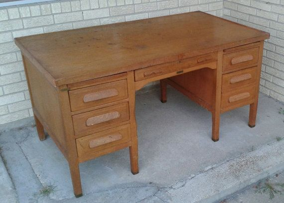 Pin By Estate Jewelry Buyer On 1950 S Oak Desk Wood