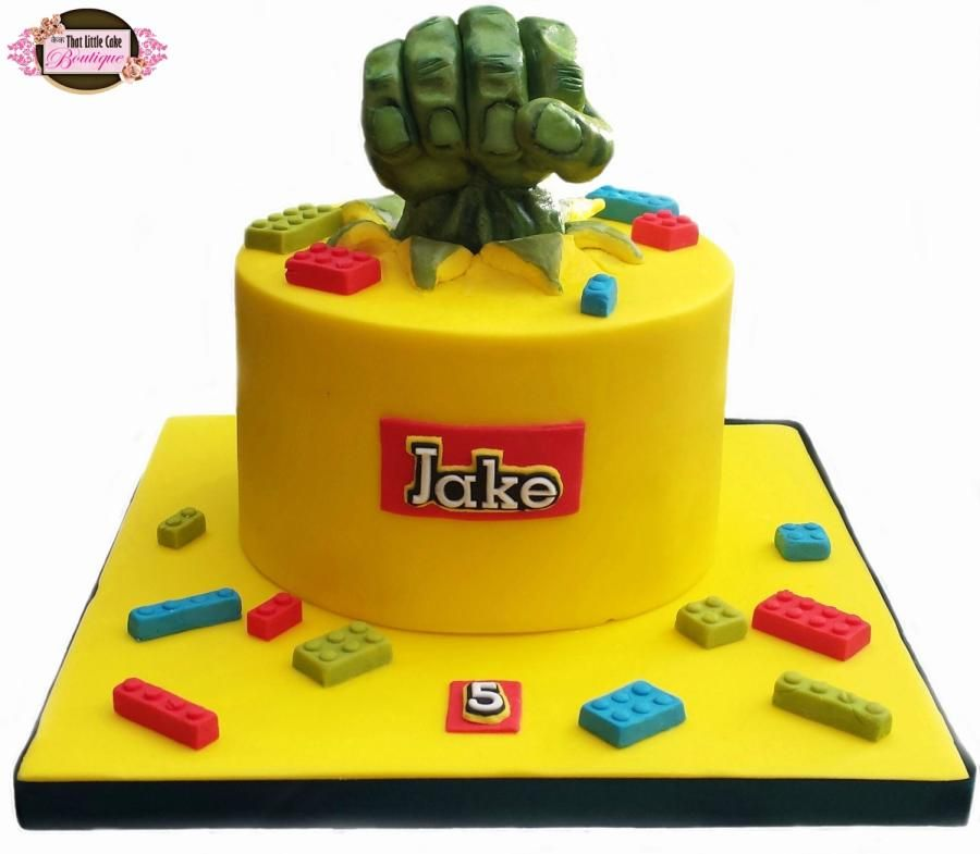 Lego Hulk Cake Cake by Jerri Super Hero Cakes Pinterest