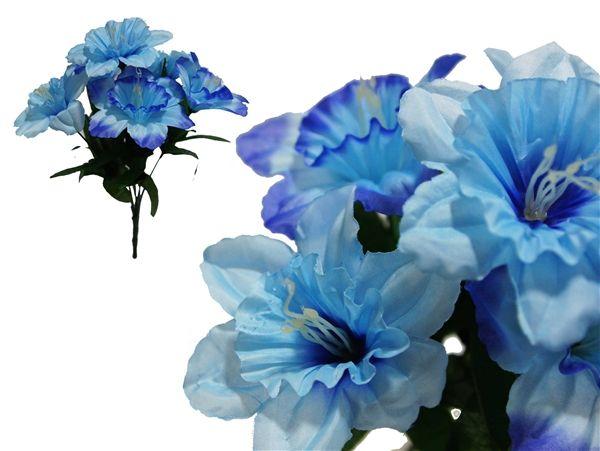 Daffodil Blue 72 Silk Daffodil Light Blue Daffodils