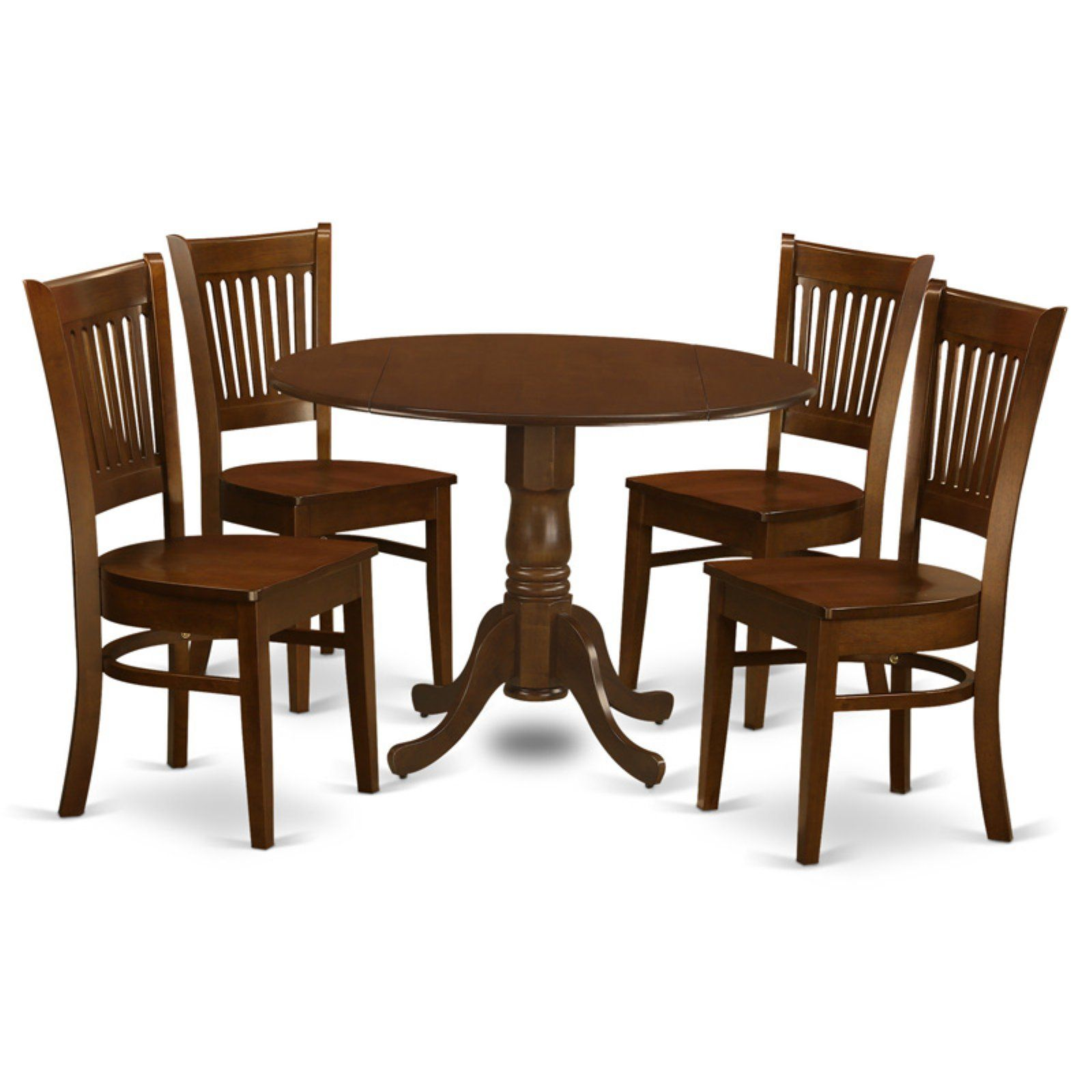 East West Furniture 5 Piece Hepplewhite Modern Drop Leaf Dinette