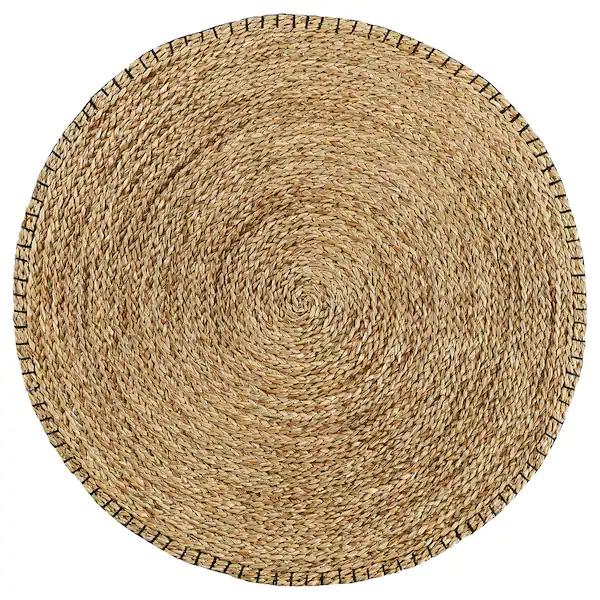 Buy Kysing Rug Braided Seagrass Black Online Ikea In 2020 Jute Rug Rugs Jute Round Rug