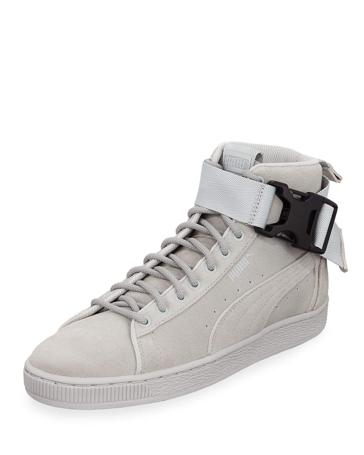 4374f387472 PUMA MEN S SUEDE MID-TOP SNEAKERS W  ANKLE STRAP.  puma  shoes ...