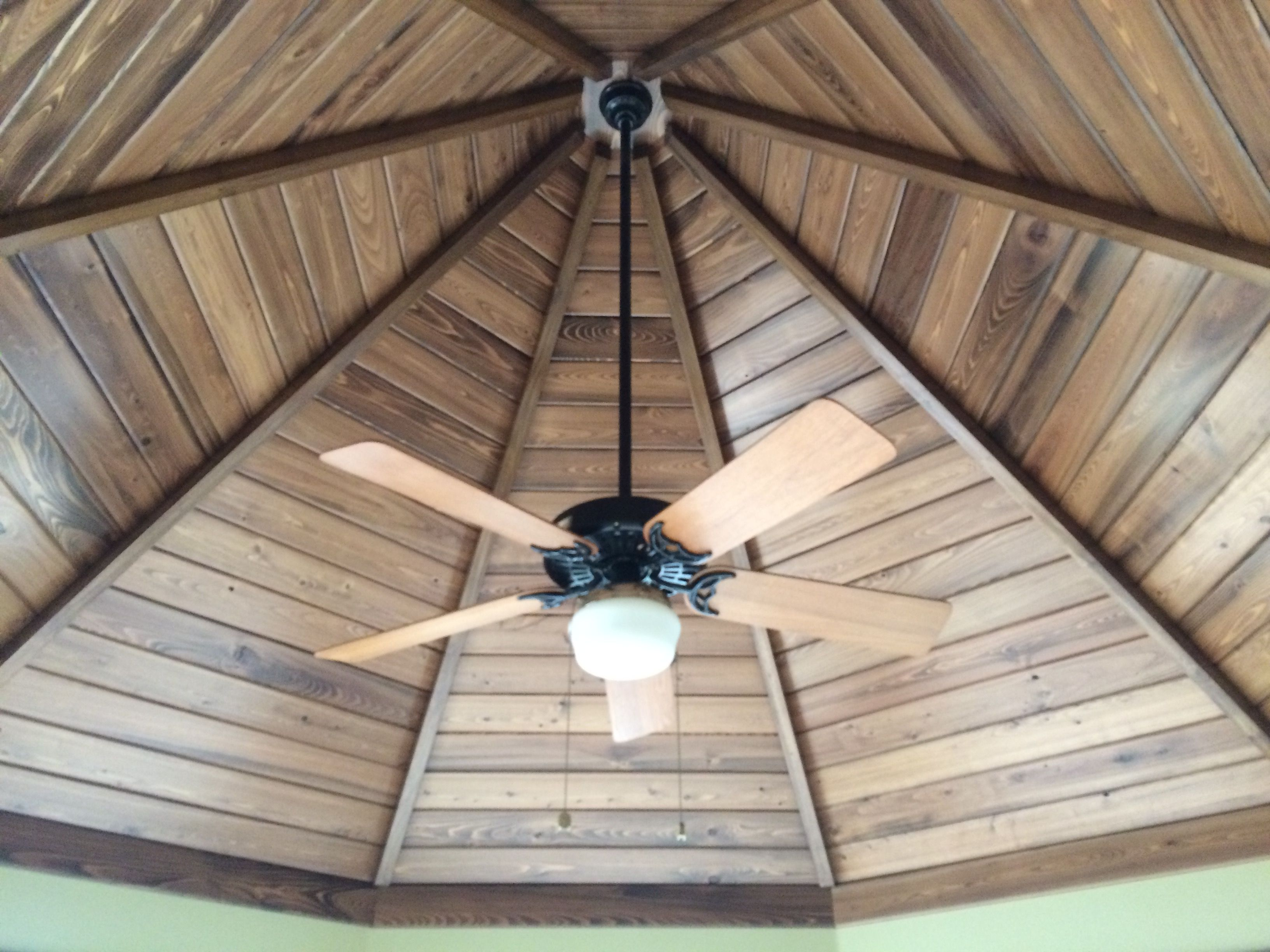 2x2 Poplar Finished To Match Pre Finished Synergy Tongue And Groove Cypress Plywood Ceiling Home Remodeling Octagon