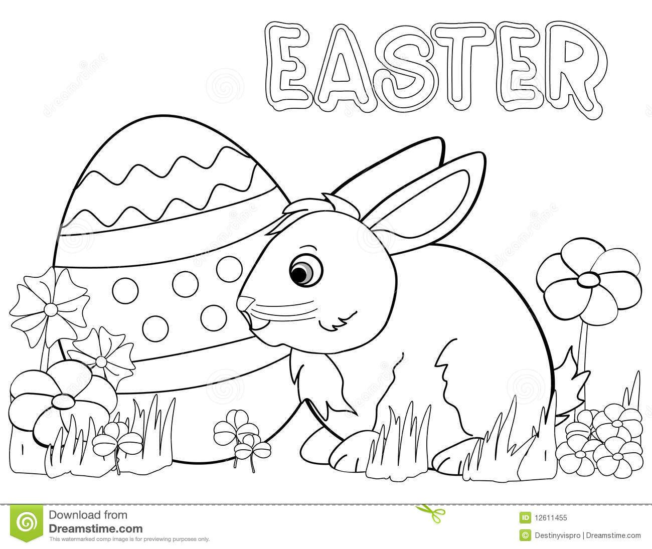 Easter Rabbit Coloring Pages Free. Free printable Easter Bunny coloring page for toddlers  preschool or kindergarten children Enjoy this Happy easter bunny pages Google Search Pinterest