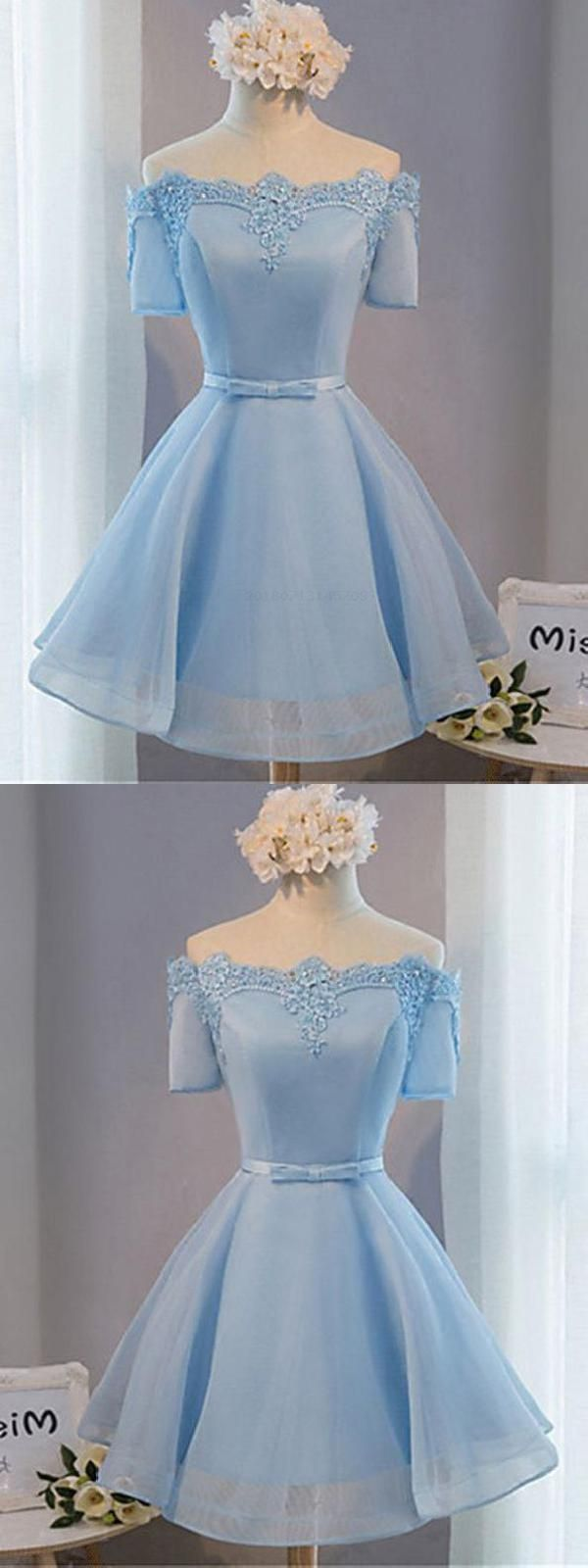 Short sleeve homecoming dresses blue homecoming dresses homecoming