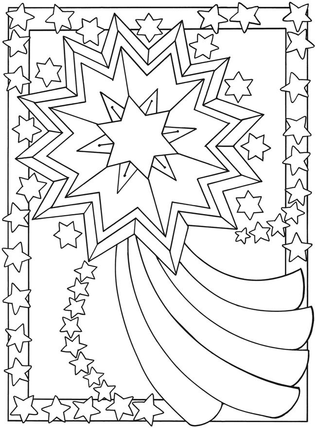 Kleurplaten Kerst Sterren.Kerststerren Kerst Kleurplaten 패턴 그림 En 동물