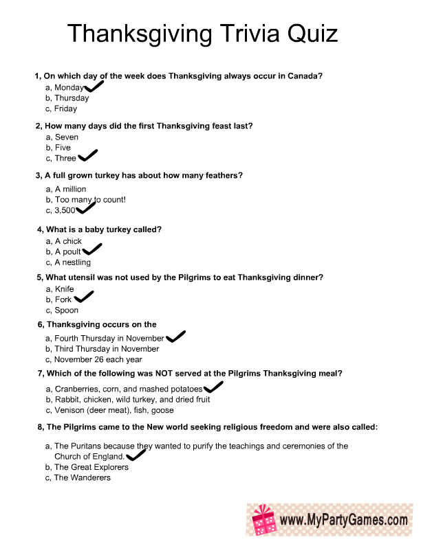 image relating to 4th Grade Trivia Questions and Answers Printable identify Thanksgiving Trivia Quiz Solution Most important Thanksgiving Game titles