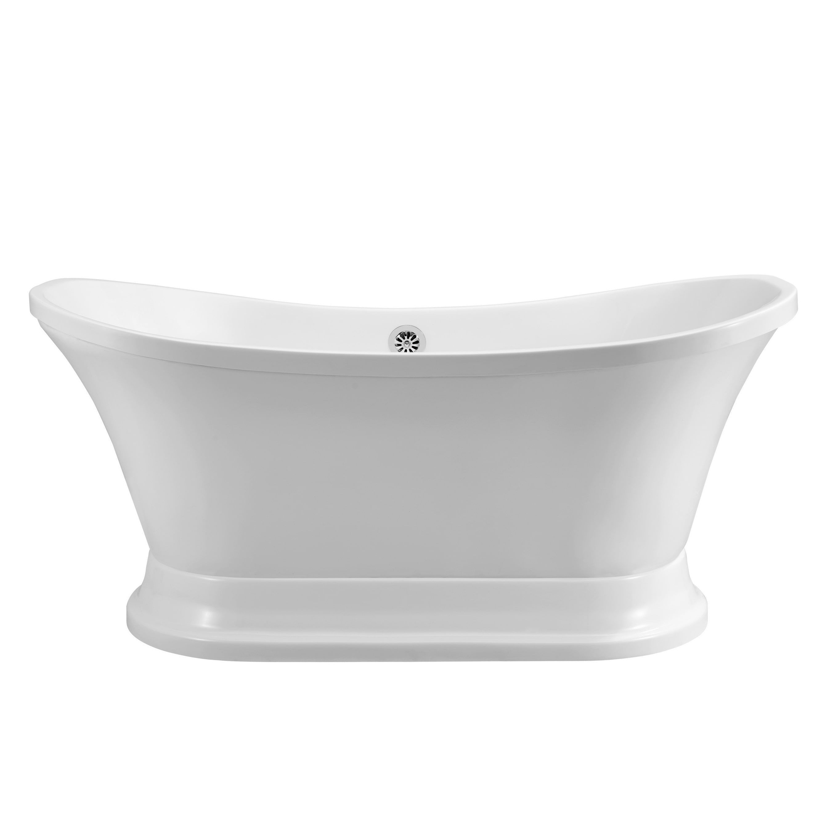 60 Streamline N200ch Soaking Freestanding Tub And Tray With