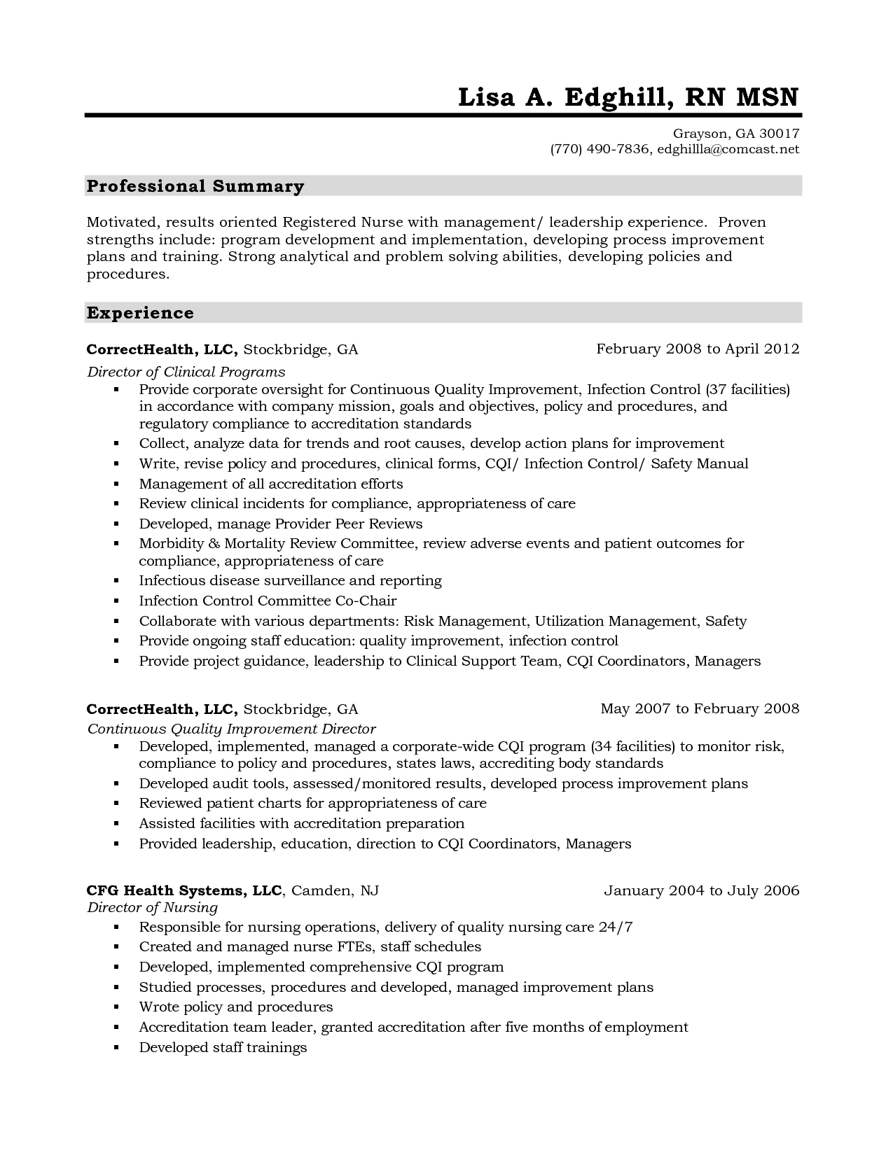 Standard Resume format for Experienced Pdf (With images