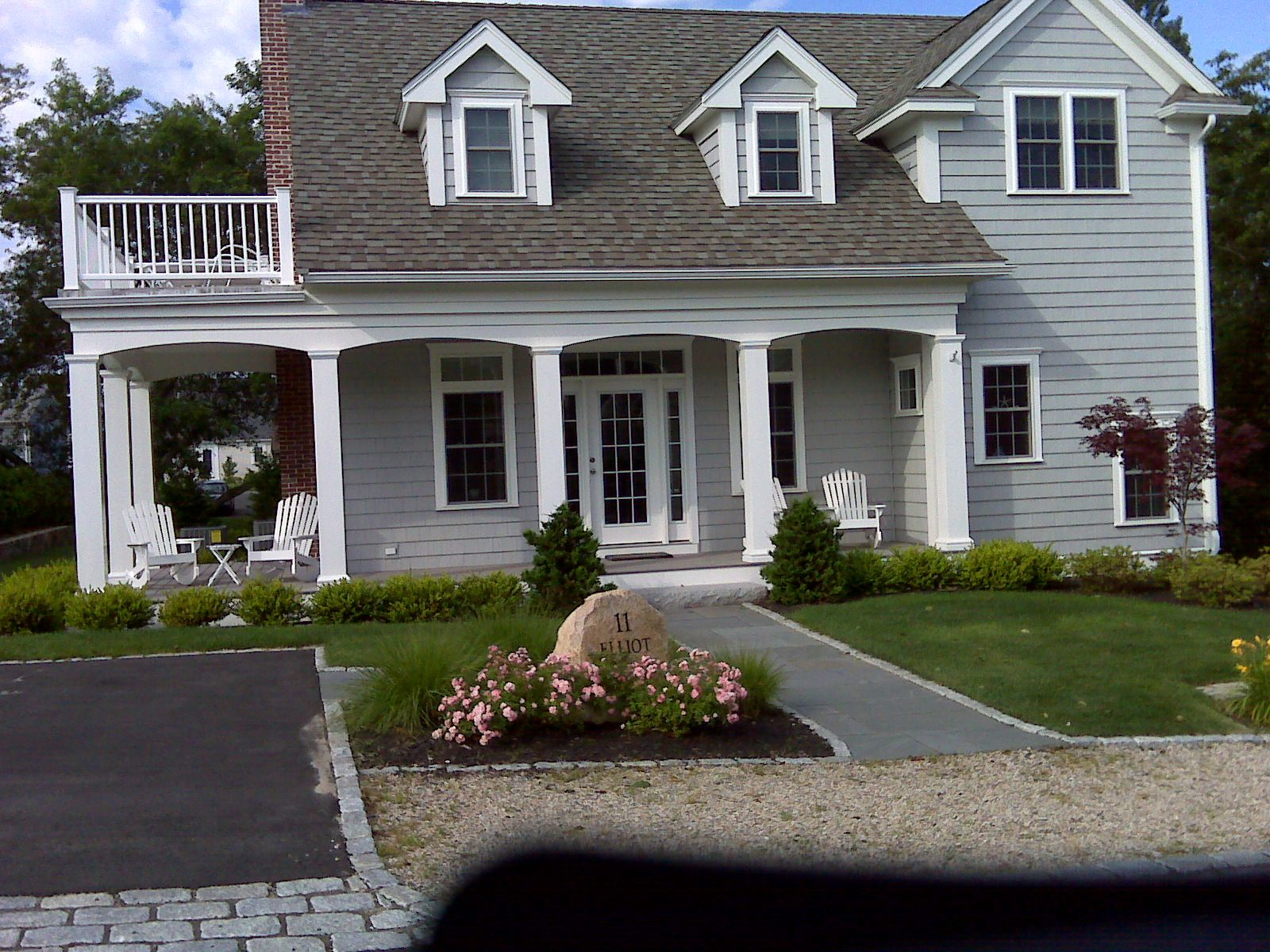 Porch and deck cape cod style homes pinterest Portico on cape cod house