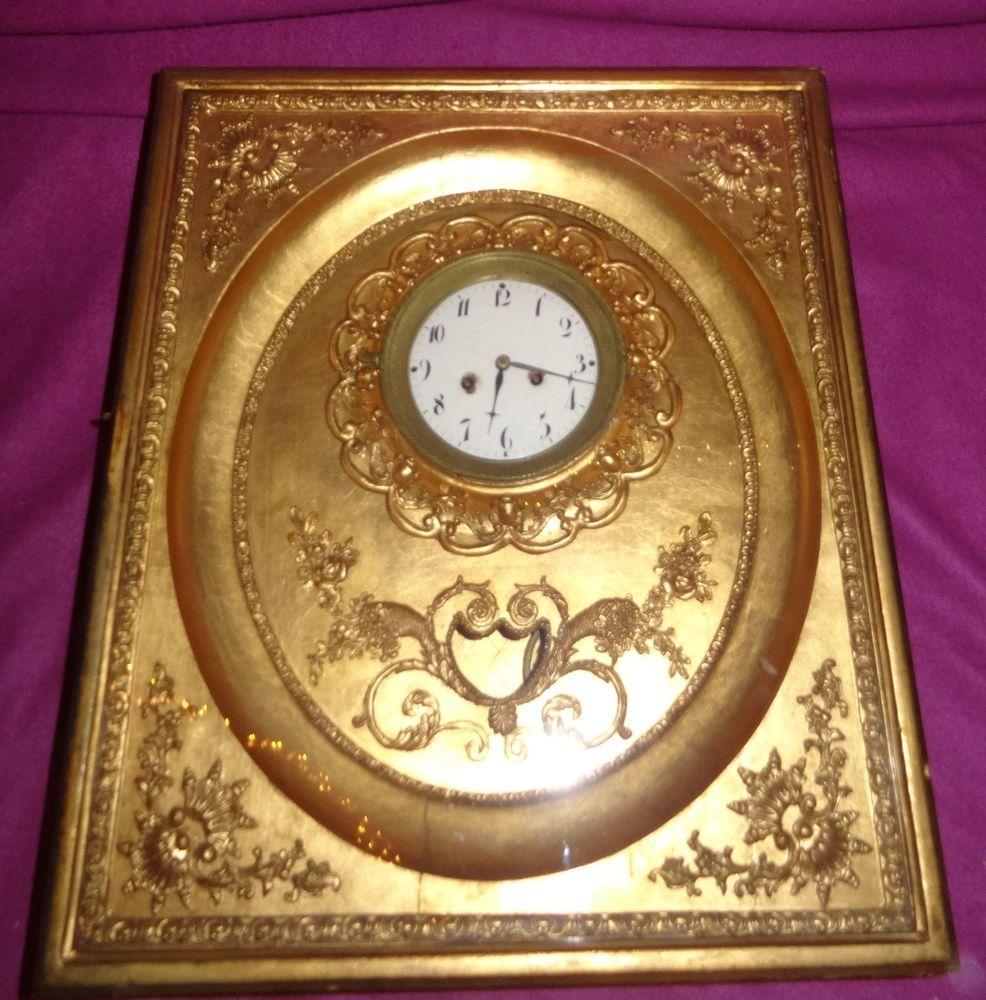 Antike Rahmenuhr Um 1830 Blattgold Wien Wanduhr Biedermeier Uhr Miller Sohn 6 Antiquitäten Kunst Mobiliar Interieur Uhr Wanduhr Blattgold Biedermeier