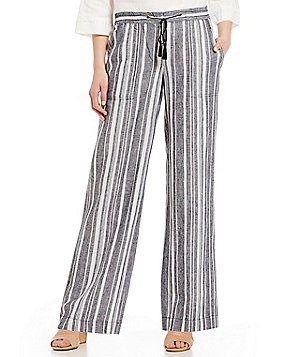 770a61e71 Jones New York Hampton Stripe Linen-Blend Drawstring Pants | Closet ...