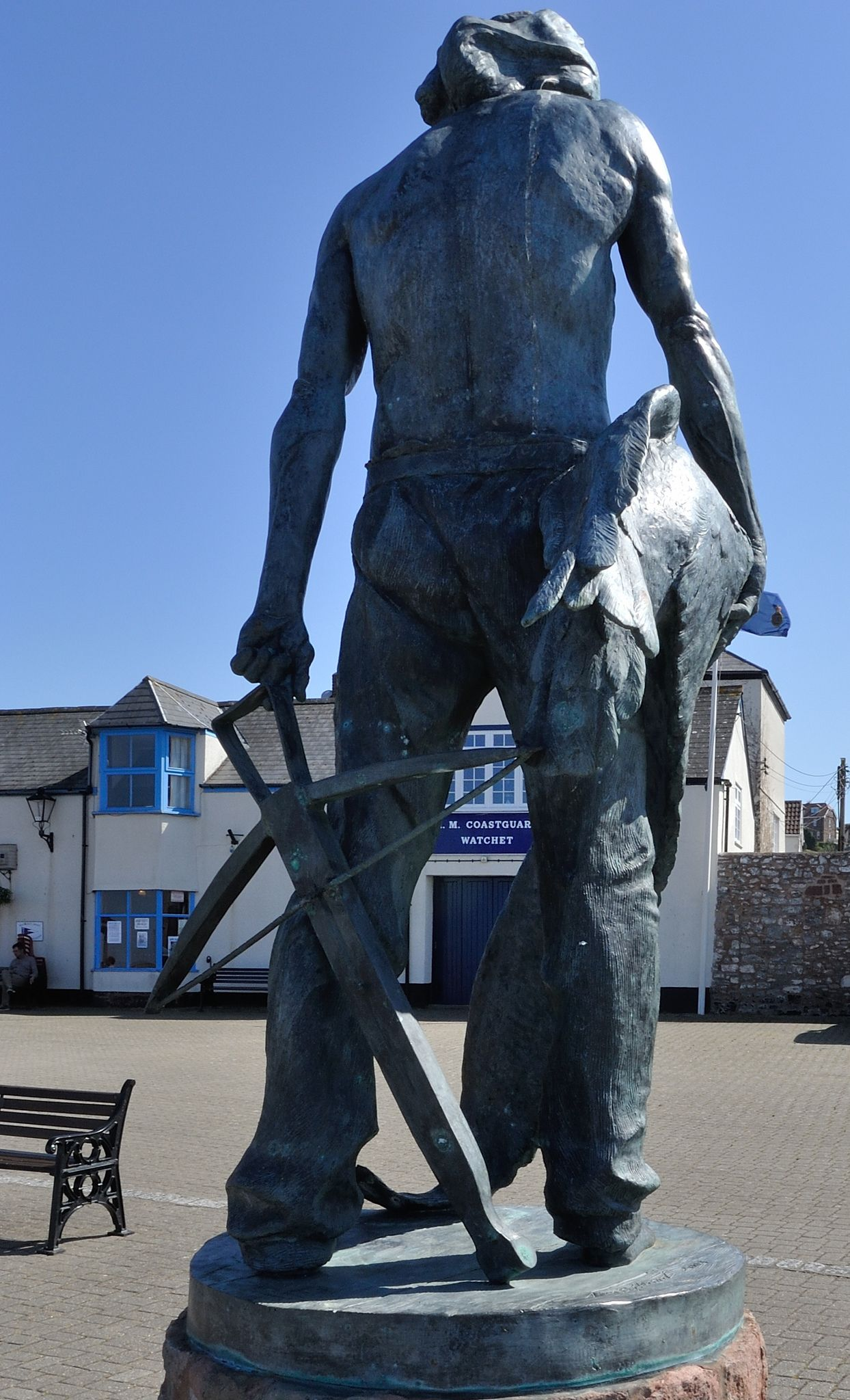 Statue of the ancient mariner with the albatross around his neck at statue of the ancient mariner with the albatross around his neck at watchet harbour in england biocorpaavc Images