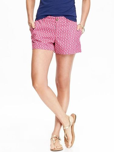 "Old Navy Womens Printed Twill Shorts 3"" Size 14 Tall - Shell pink from Old Navy on Catalog Spree"