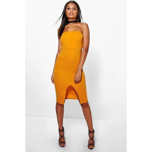 d03c197f22 Boohoo Night Neve Lace Choker Bandeau Midi Dress ( 30) ❤ liked on ...