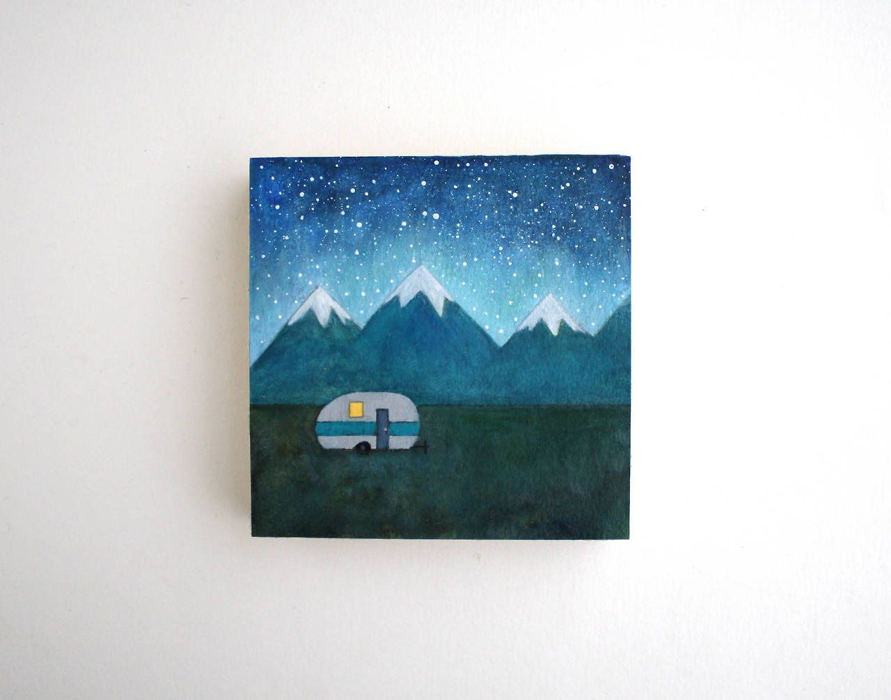 """culturenlifestyle: """" New Starry Night Oil Miniature Paintings by Tree Hollow Designs Indie boutique TreeHollowDesigns (previously featured here) showcases their stunning hand-crafted work with a..."""