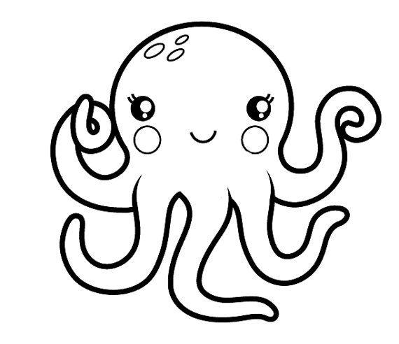 Handmade Clear Rubber Octopus Stamp Pen Pals Scrapbook Journal Custom Stamps