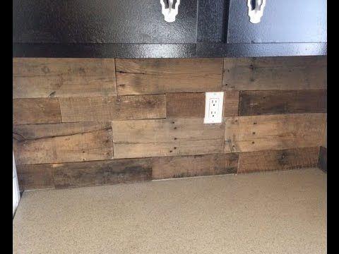 Pallet Wood Backsplash - YouTube | Pallet wood backsplash ...