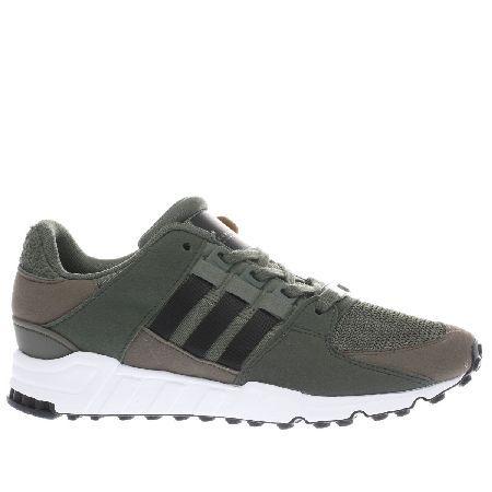 adidas khaki trainers eqt