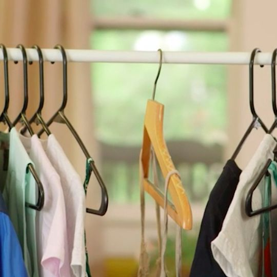 how to stop clothes slipping off hangers