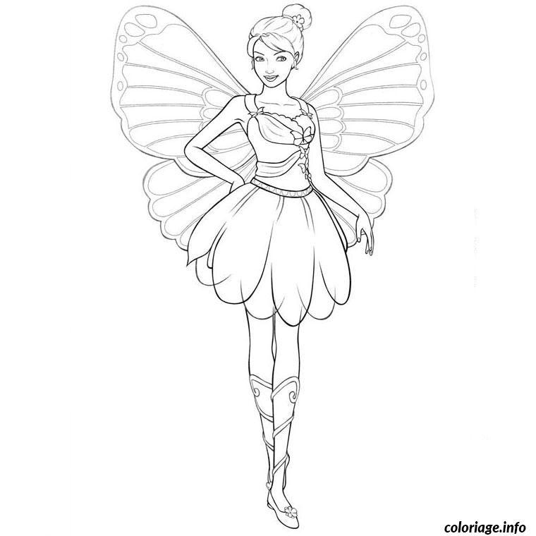 Coloriage barbie mariposa dessin imprimer elisa et - Imprimer coloriage barbie ...