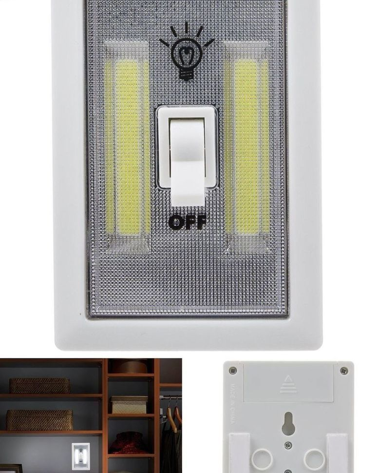 Cob led wall lighted switch wireless closet night light multi use cob led wall lighted switch wireless closet night light multi use self stick http mozeypictures Choice Image