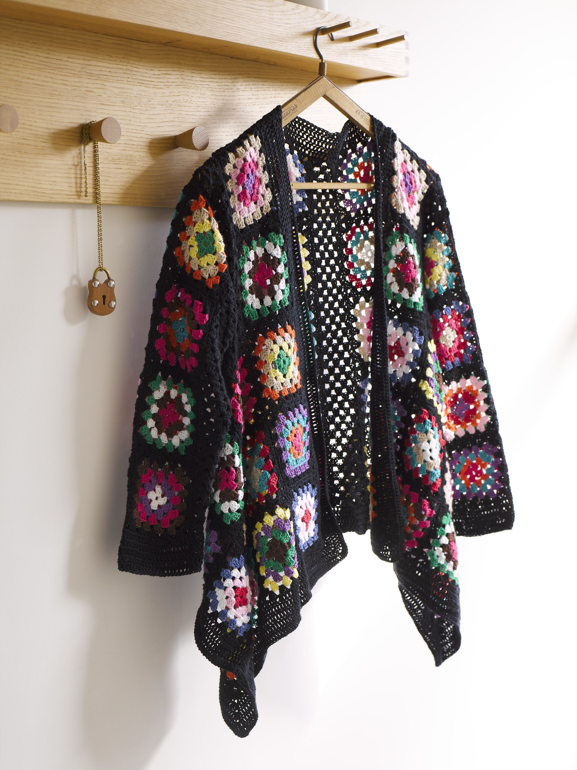 Modern Crochet by Patons, granny square jacket | crochet coat or ...