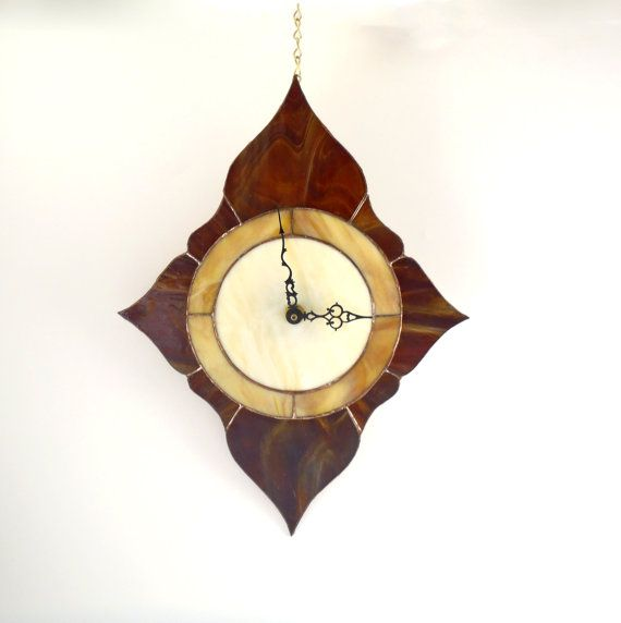 Stained Glass Clock Unique Wall Clock Modern By